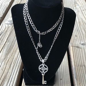 Fabulous Fossil Crystal Key Necklace!
